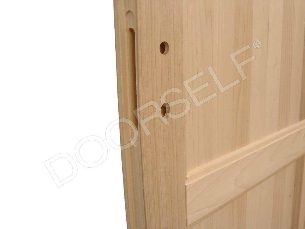 Porte in legno massello di toulipier doorself - Porta in legno massello ...