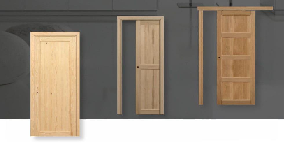 L'esclusiva porta per interni in pregiato Legno Massello