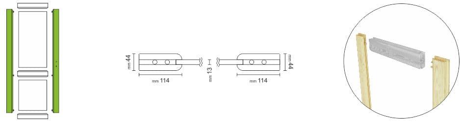 Porte per interni in legno massello scorrevoli | DoorSelf