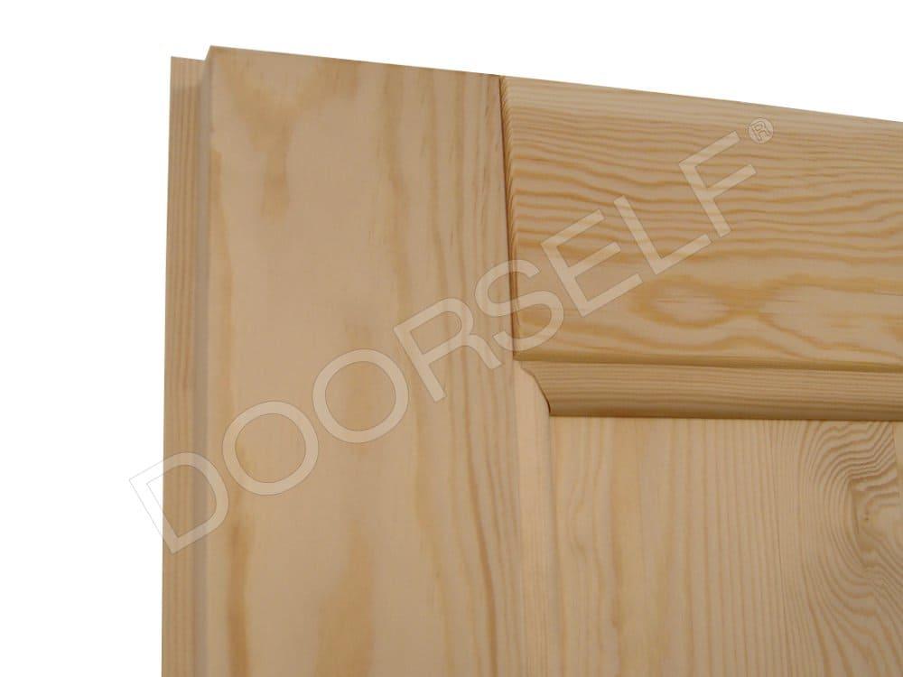 Porta scorrevole interno muro per interni in legno massello grezzo di pino doorself - Porta in legno massello ...