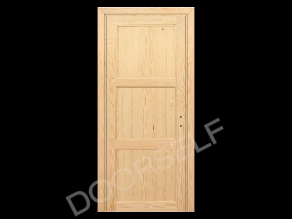 Porte In Legno Massello Prezzi : Porta per interni a battente in legno massello grezzo di pino doorself