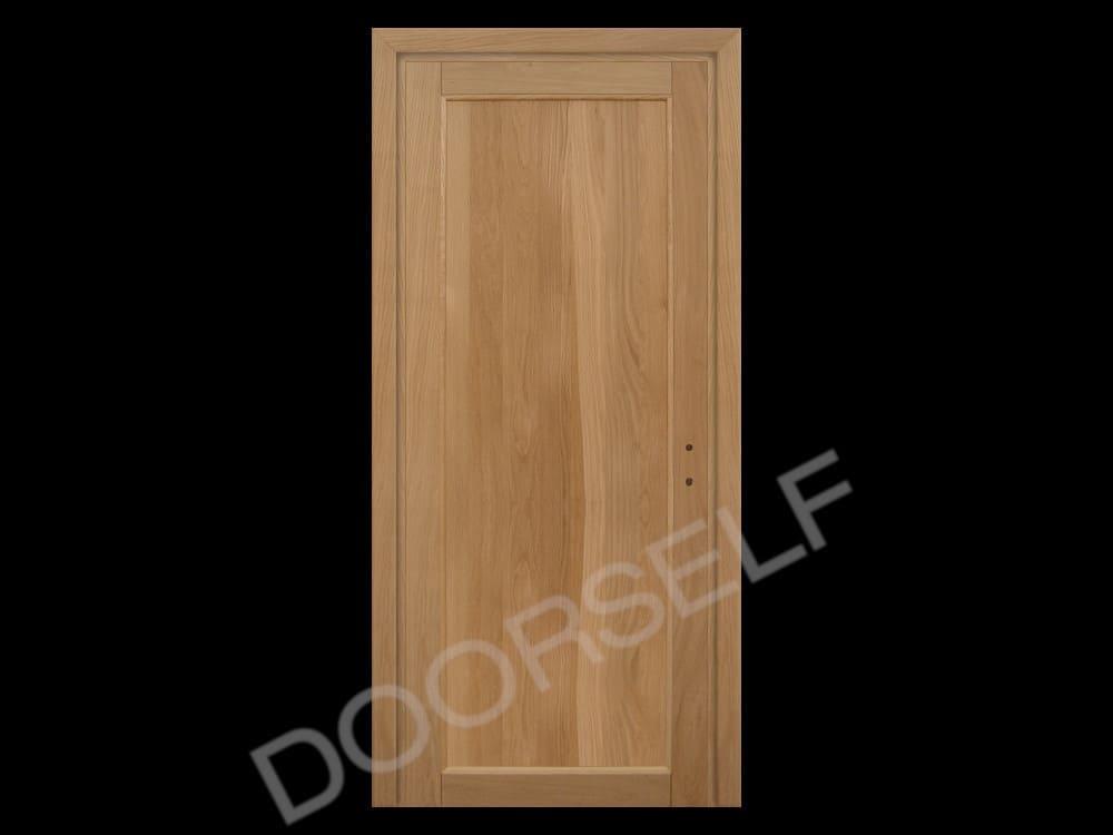 Porte In Legno Massello : Porta a battente in legno massello di rovere per interni grezza
