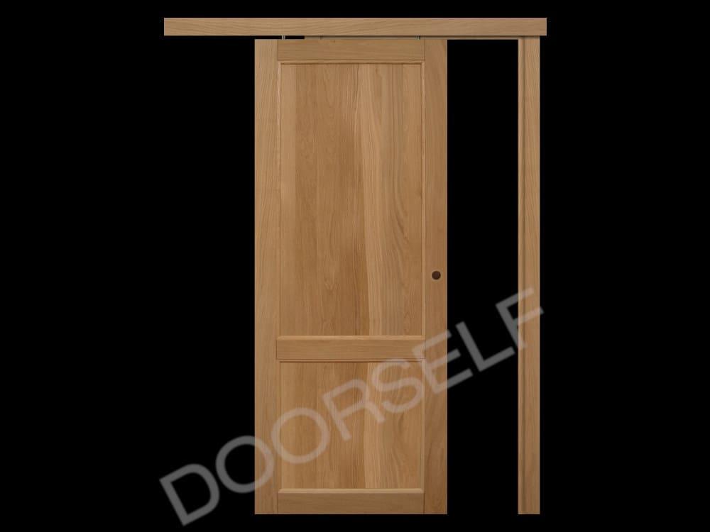 Porte In Legno Massello : Porta scorrevole esterno muro in legno massello di rovere per