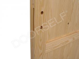 Porta in legno massello di Pino - Dettaglio 2