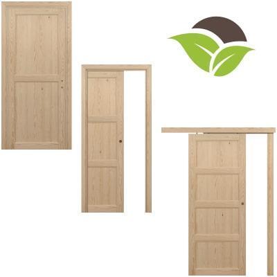 Porte per interni legno massello Pino