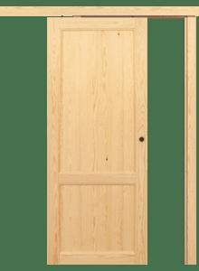 Porta scorrevole esterno muro in Legno Massello di Pino   DoorSelf